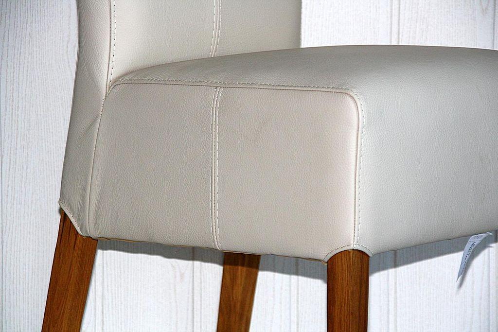 Stuhl 46x103x65cm Leder Toledo Betulla Eiche Massiv Geölt