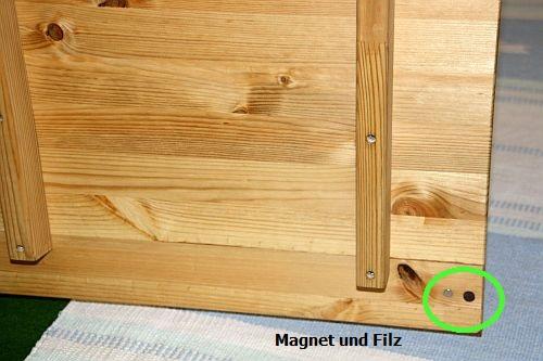 Schlafzimmer-Set Kiefer massiv gelaugt/geölt 4tlg. Bett 160 56 hoch mit Holz-Kopfteil Kleiderschrank Massivholz 4trg – Bild 6