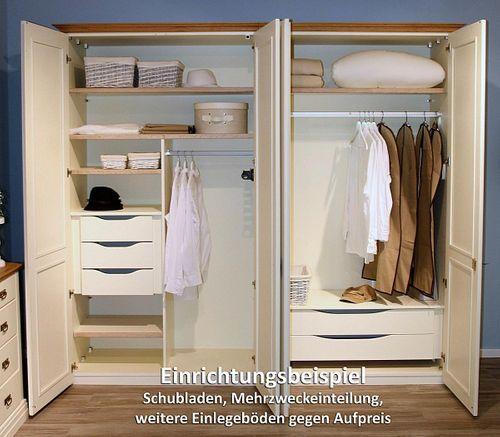 Massivholz Schlafzimmer 160 Kiefer creme lackiert 4tlg. Wildeiche geölt abgesetzt Doppelbett – Bild 5