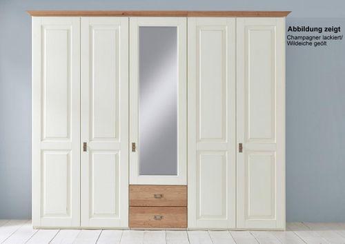Massivholz Schlafzimmer 200x200 Kiefer weiß lack. 4tlg. Wildeiche geölt Doppelbett – Bild 5