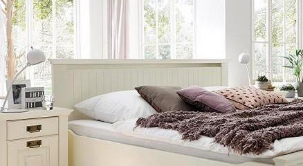 bett 180x200 kiefer massiv wei lackiert komforth he 42 cm nordic dreams. Black Bedroom Furniture Sets. Home Design Ideas