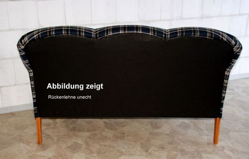 """""""Leer"""" Küchensofa Blau Beige gestreift Buche natur lackiert, Stoff: 44/625 14 Friesensofa – Bild 3"""