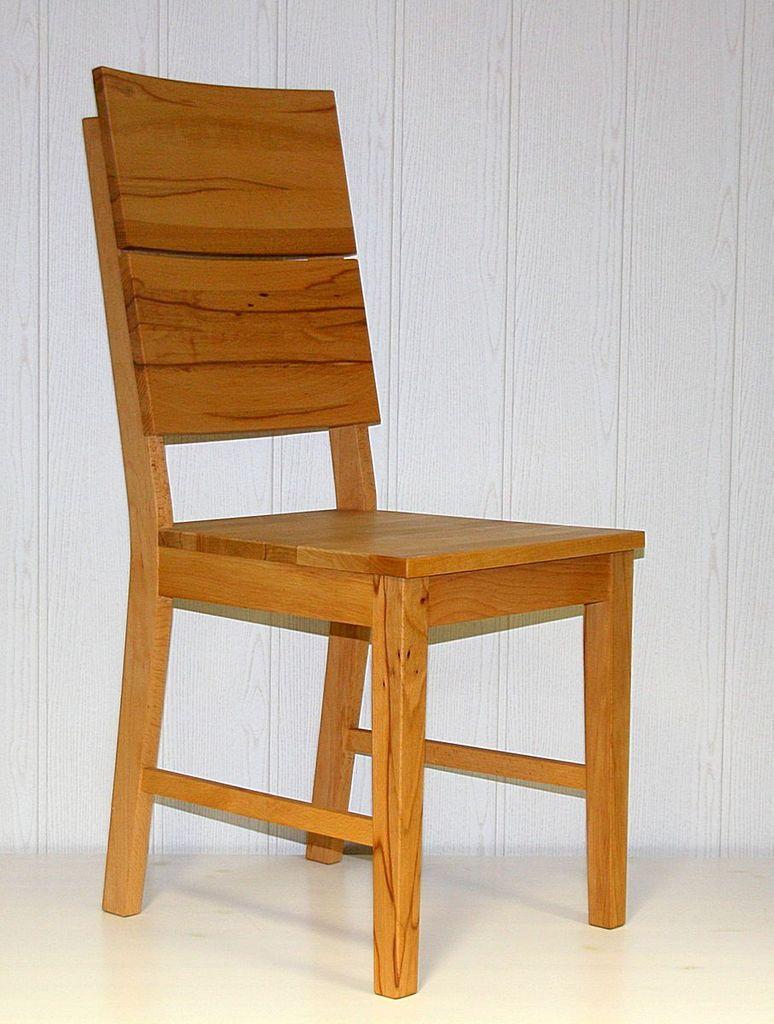 Stuhl 42x96x50cm mit Holzsitz Kernbuche massiv natur geölt
