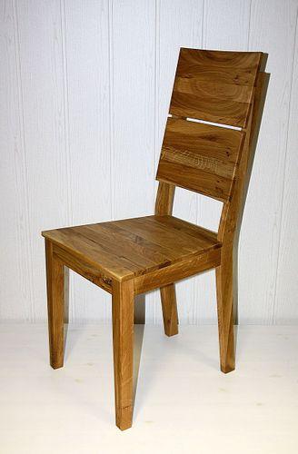 Esszimmerstuhl Stuhl Wildeiche massiv geölt Vollholz Stühle – Bild 1