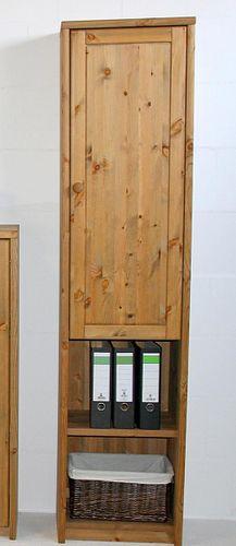 Aktenschrank Kiefer massiv Büroschrank schmal Wohnzimmerschrank gelaugt – Bild 4