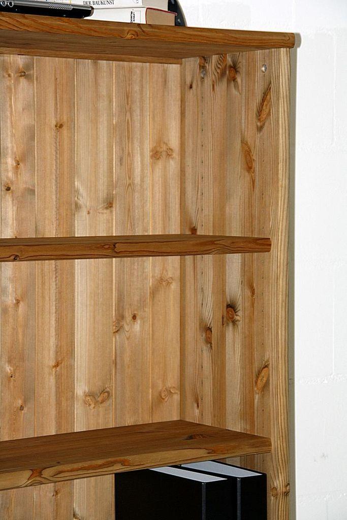 Büroschränke-Set 3teilig Aktenregale Kiefer Büroregale massiv gelaugt geölt – Bild 5
