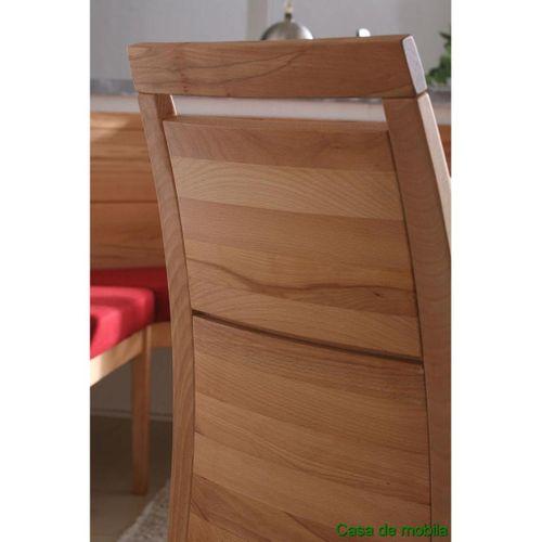 Massivholz Essgruppe mit Bank 210 Küchentisch Stühle Kernbuche massiv Esszimmer Set  – Bild 5