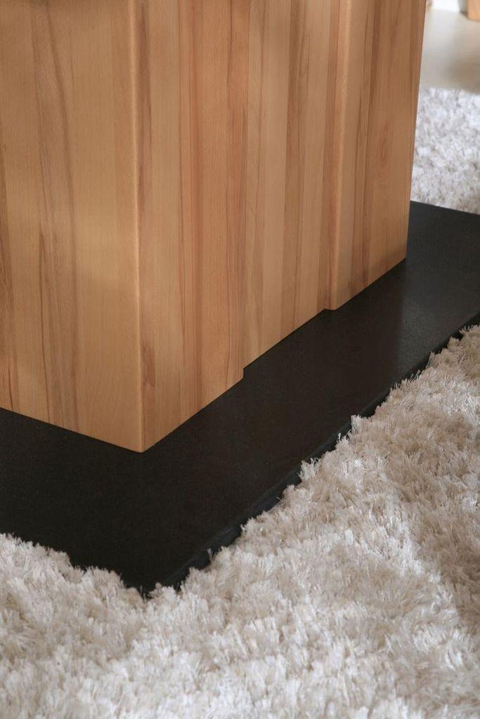 Massivholz Essgruppe 150 Säulentisch Kernbuche massiv natur geölt CASERA 7tlg. Set Tisch und Stühle – Bild 4