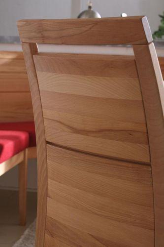 Massivholz Essgruppe 210 Säulentisch Kernbuche CASERA Esszimmer Set 210x95 Tisch und Stühle – Bild 3