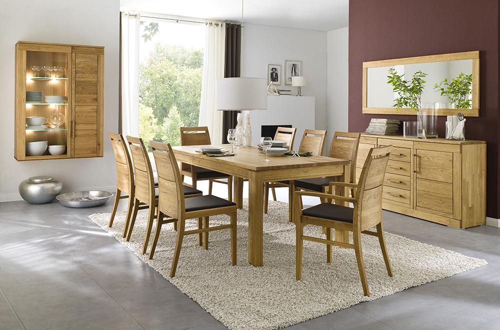 massivholz esstisch k chentisch 150 230x95 cm eiche massiv. Black Bedroom Furniture Sets. Home Design Ideas