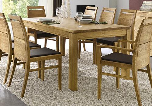 Massivholz Esstisch Küchentisch 150/230x95 cm Eiche massiv geölt mit ...