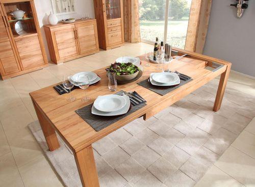 Massivholz Essgruppe Tisch 150 ausziehbar Kernbuche 7tlg. Tischgruppe mit Ausziehtisch und Stühlen – Bild 5