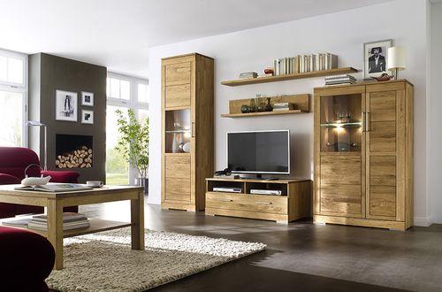 Massivholz Lowboard Asteiche 120x47x42cm TV-Bank Holz – Bild 2
