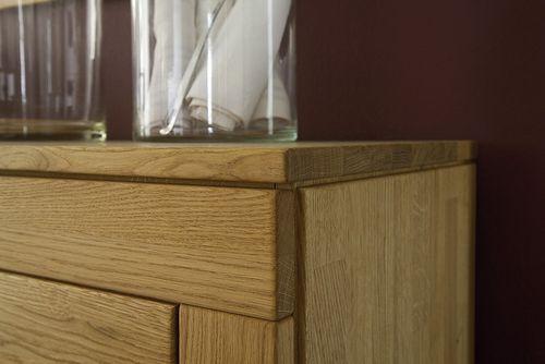 Massivholz Geschirrschrank 2türig Asteiche Highboard Mehrzweckschrank – Bild 2