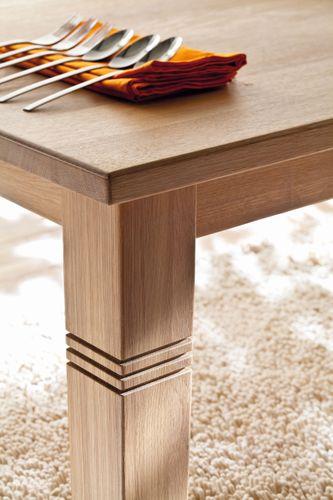 Massivholz Tisch ausziehbar 220/280 Eiche Bianco Ausziehtisch Esszimmer – Bild 2