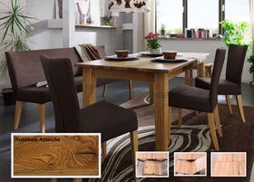 Esstisch 180/240x76x95cm Tisch ausziehbar Ethos Gestellauszug rustikale Asteiche massiv geölt