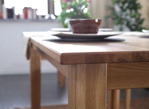 Massivholz Esstisch ausziehbar 200/260 Asteiche geölt – Bild 2