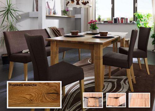 Massivholz Esstisch ausziehbar 200/260 Asteiche geölt – Bild 1
