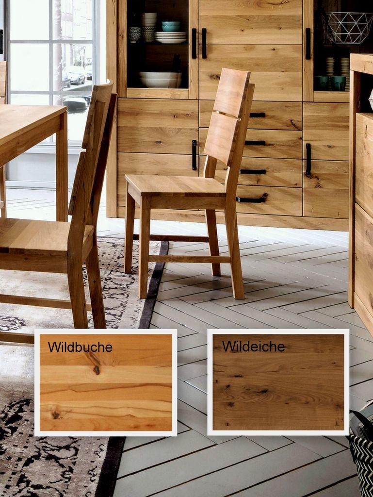 Massivholz Esszimmerstuhl 39x89x51 Holz wild massiv geölt – Bild 1