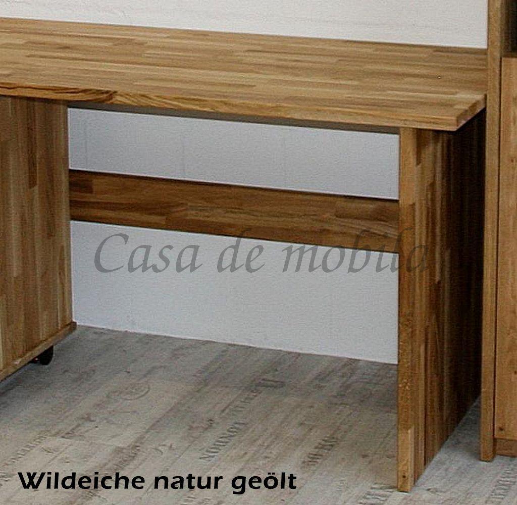 Schreibtisch 125cm Massivholz Bürotisch Buche Eiche geölt – Bild 3