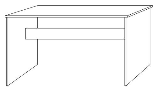 Schreibtisch 125cm Kiefer massiv Bürotisch gelaugt geölt – Bild 3