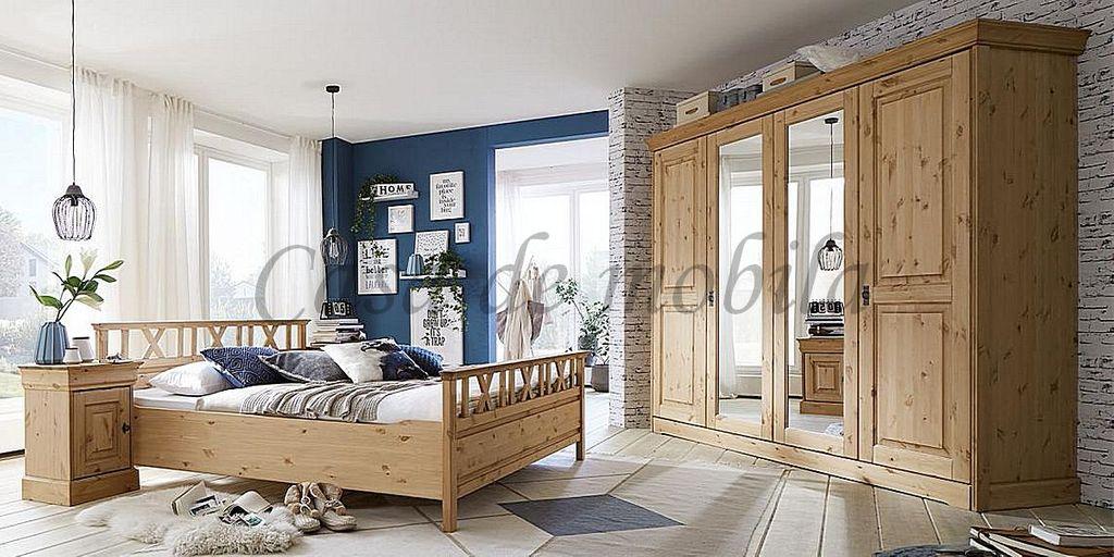 Schlafzimmer Set 4teilig sandfarben gebeizt seidenmatt lackiert ...
