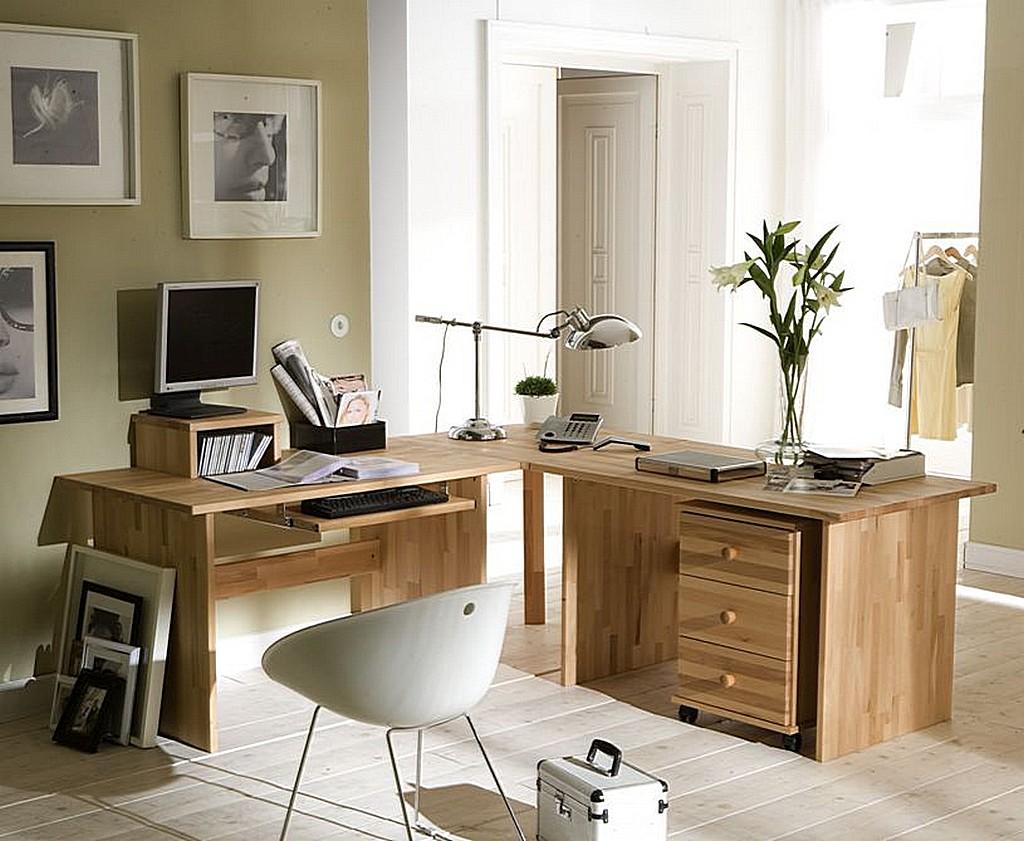 massivholz eck schreibtisch rotkernbuche schreibtisch. Black Bedroom Furniture Sets. Home Design Ideas