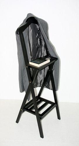 Herrendiener Holz Kleiderständer Mahagony schwarz Stummer Diener – Bild 1