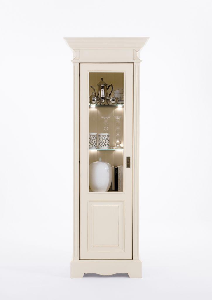 Massivholz Wohnwand 3tlg Kiefer Champagner Landhausstil – Bild 3