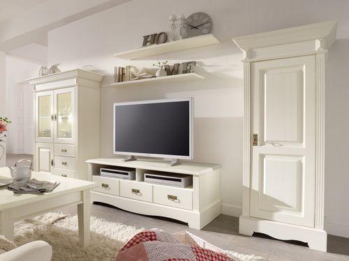 Wohnzimmermöbel weiß massiv  Wohnwände