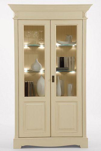 Massivholz Esszimmer 7teilig Kiefer Champagner Goldbraun lackiert Landhausstil – Bild 8