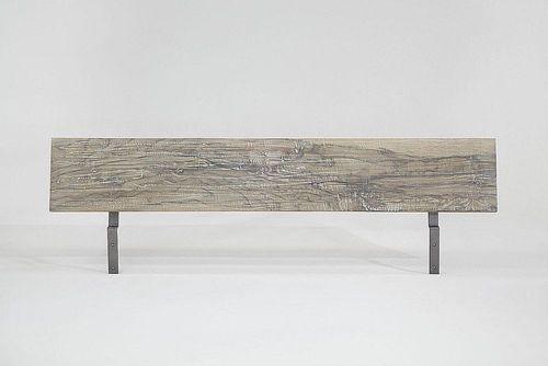 Massivholz Bett 140x200 Balkeneiche White Wash – Bild 4