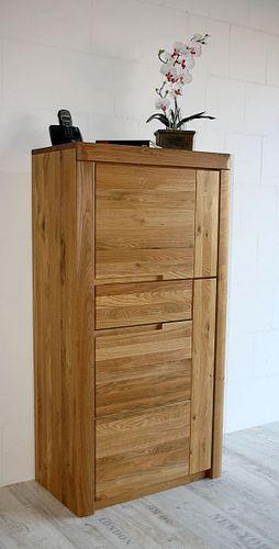 Wohnzimmerschrank HORIZONT 71x137x40cm Massivholz Wildeiche massiv natur geölt Rechtsanschlag – Bild 1