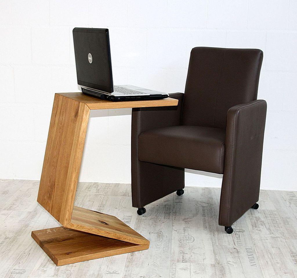 Multi-Tisch FLEXI als Ablage, Beistelltisch, Zeitungsständer - aus Balkeneiche, natur geölt – Bild 3