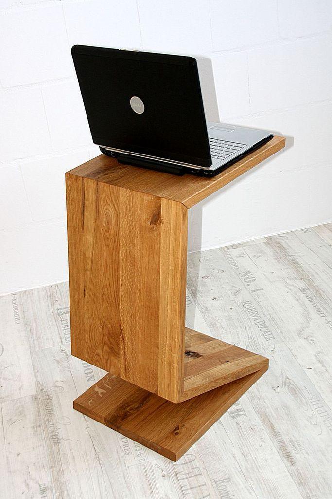 Multi-Tisch FLEXI als Ablage, Beistelltisch, Zeitungsständer - aus Balkeneiche, natur geölt – Bild 5