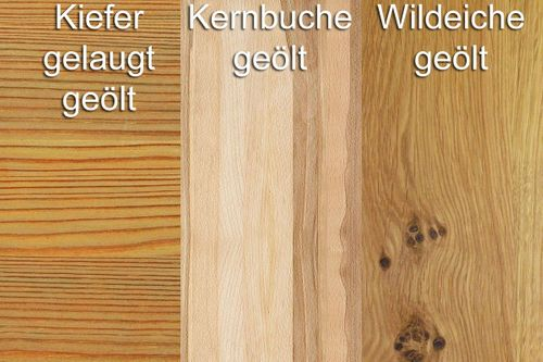 Anbauwand Massivholz Schrankwand Wohnwand Vollholz geölt – Bild 4
