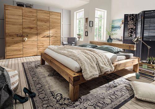 Massivholz Schlafzimmer 2tlg. 200x200 Wildeiche massiv geölt – Bild 1