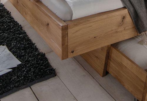 Massivholz Schwebebett 180x200 Wildeiche geölt rustikal – Bild 3