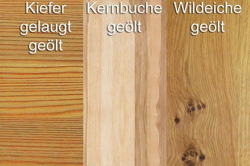 Bücherregal Massivholz Highboard Wohnzimmerschrank Vollholz geölt grau – Bild 4