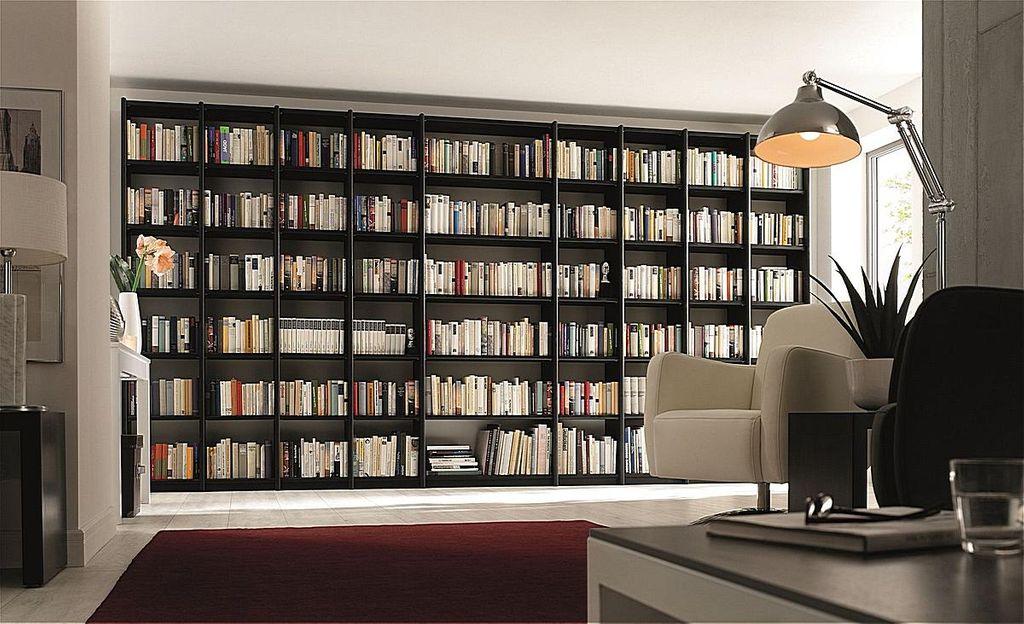 Büroregal Massivholz Bibliothek-Regal Systemregal Kiefer Vollholz – Bild 9