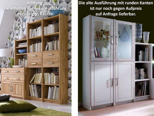 Büroregal Massivholz Bibliothek-Regal Systemregal Kiefer Vollholz – Bild 5