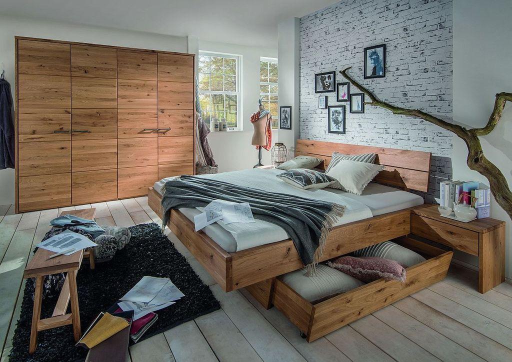 Schlafzimmmer Set 2tlg. Wildeiche geölt