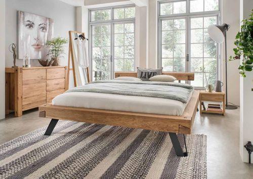 schwebebett 180x200 wildeiche massiv ge lt. Black Bedroom Furniture Sets. Home Design Ideas