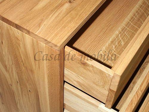Massivholz Herenkommode Wildeiche Natur geölt – Bild 3