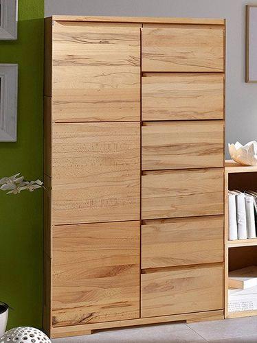 Massivholz Highboard Kernbuche Livos geölt 90x131x45  – Bild 4