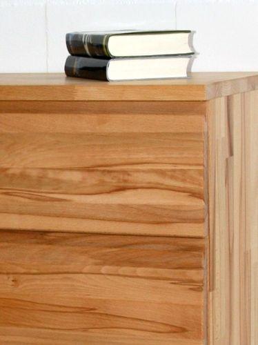 Massivholz Highboard Kernbuche Livos geölt 90x131x45  – Bild 2