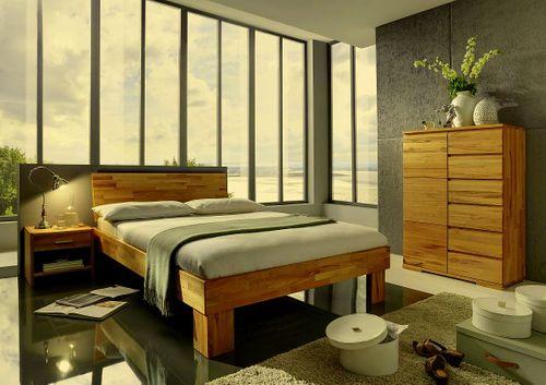 Massivholz Highboard Kernbuche Livos geölt 90x131x45  – Bild 3