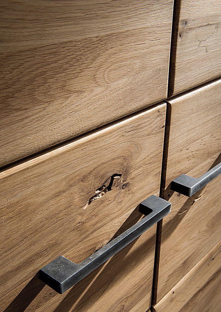 Massivholz Kleiderschrank 240x219x60cm 4trg. Wildeiche massiv geölt – Bild 2