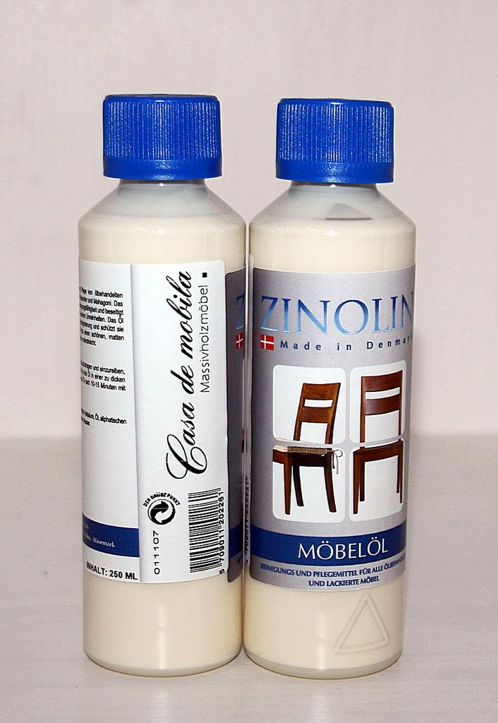 Zinolin Möbel-Öl 250ml Möbelpflegeöl Teak Walnuss Palisander Mahagoni – Bild 5