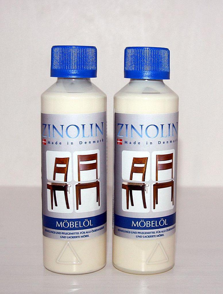Zinolin Möbel-Öl 250ml Möbelpflegeöl Teak Walnuss Palisander Mahagoni – Bild 3
